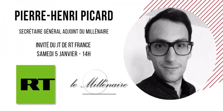 Pierre-Henri Picard, Secrétaire général adjoint du Millénaire, invité du JT de RT France le 5 janvier