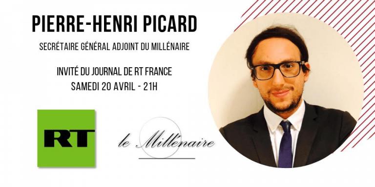 Pierre-Henri Picard, Secrétaire général adjoint du Millénaire, invité du JT de RT France le 20 Avril 2019